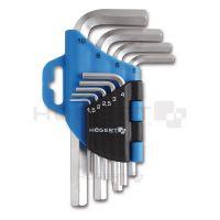 Ключи шестигранные CrV, 9 шт.