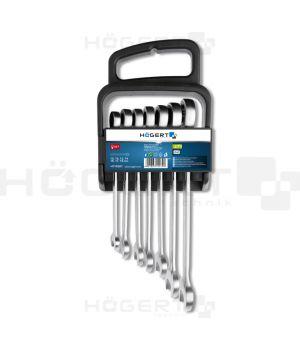 Набор комбинированных ключей с трещоткой 10-19 шт, сталь Cr V 6140, 7 шт., 72T