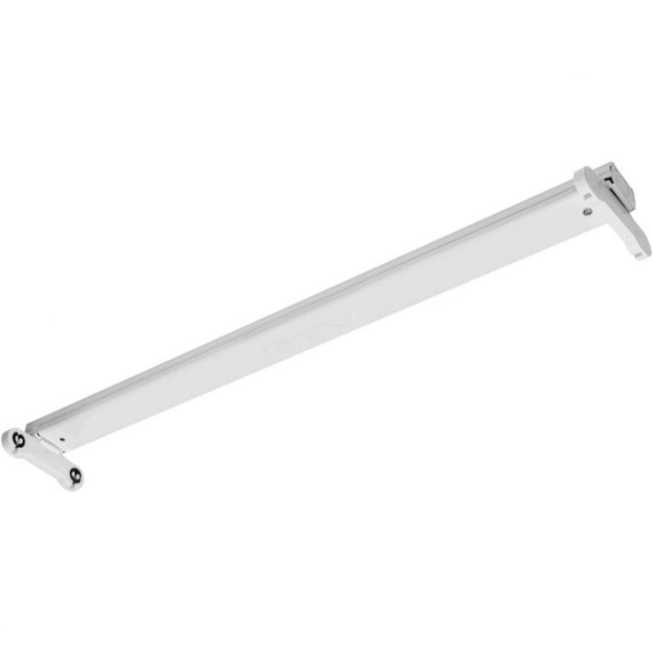 Cветильник для открытой лампы LED OSL SLIM-2x120см T8 LED, IP20, белый корпус