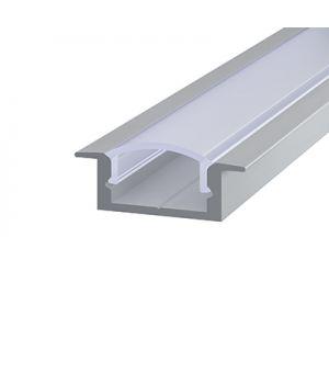 Алюминиевий профиль врезной 7*16мм, Серебро