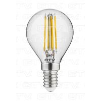 Cветодиодная лампа LED филаментная, G45, 3000K, E14, 4W, AC220-240V/50-60Hz, RA>80, 360*, 400lm