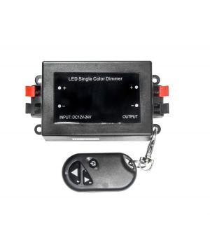 Одноканальный радиочастотный диммер с кнопками, 12~24 В, 8А, мощность 192 Вт, для ШИМ диммирования L