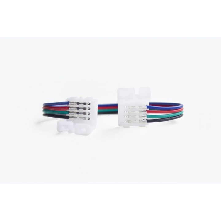 Коннектор двухсторонний 4 контакта, провод 15 см, для RGB LED ленты 10 мм