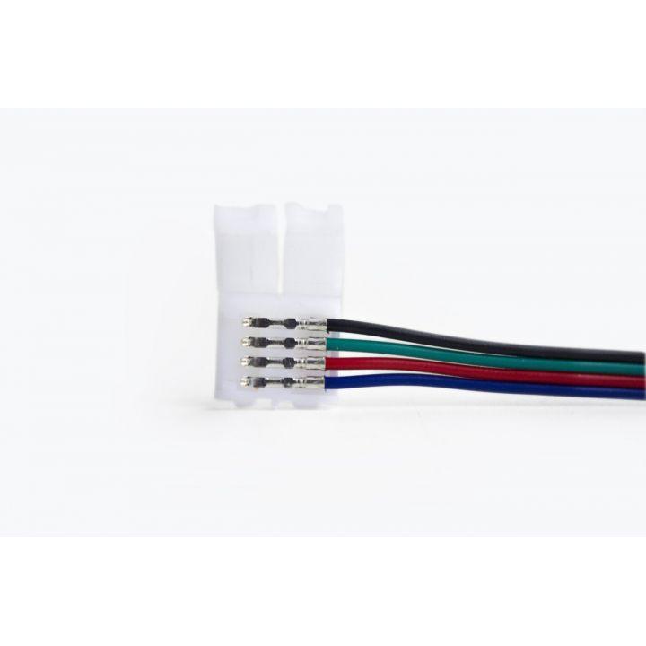 Коннектор 4 контакта, провод 15 см, для RGB LED ленты 10 мм