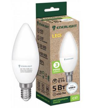 Cветодиодная лампа LED ENERLIGHT С37 5Вт 4100K E14