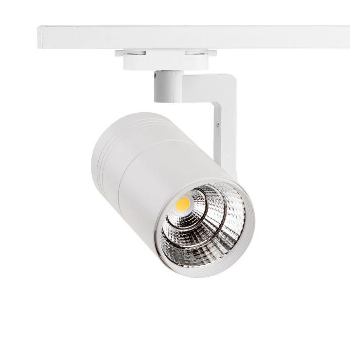 Светодиодный трековый светильник 30 Вт.нейтральный,белый корпус