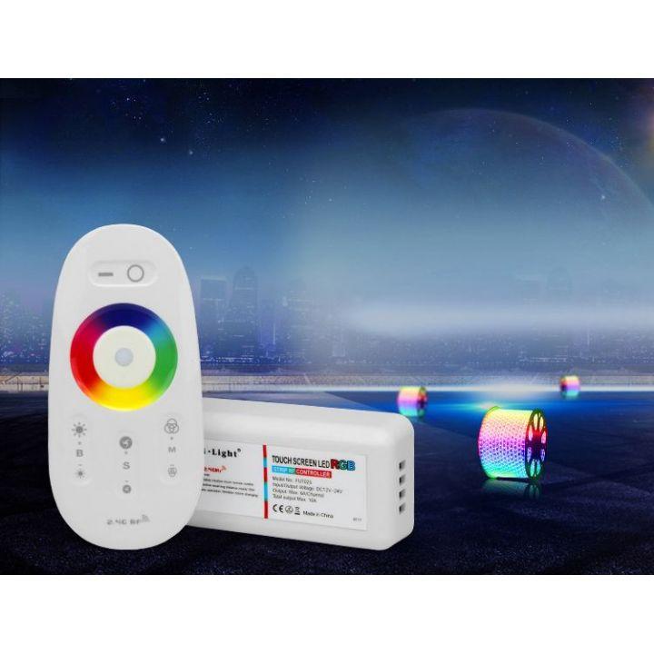 Радио контроллер для RGB ленты, с пультом, сенсорный (2,4 ГГц)