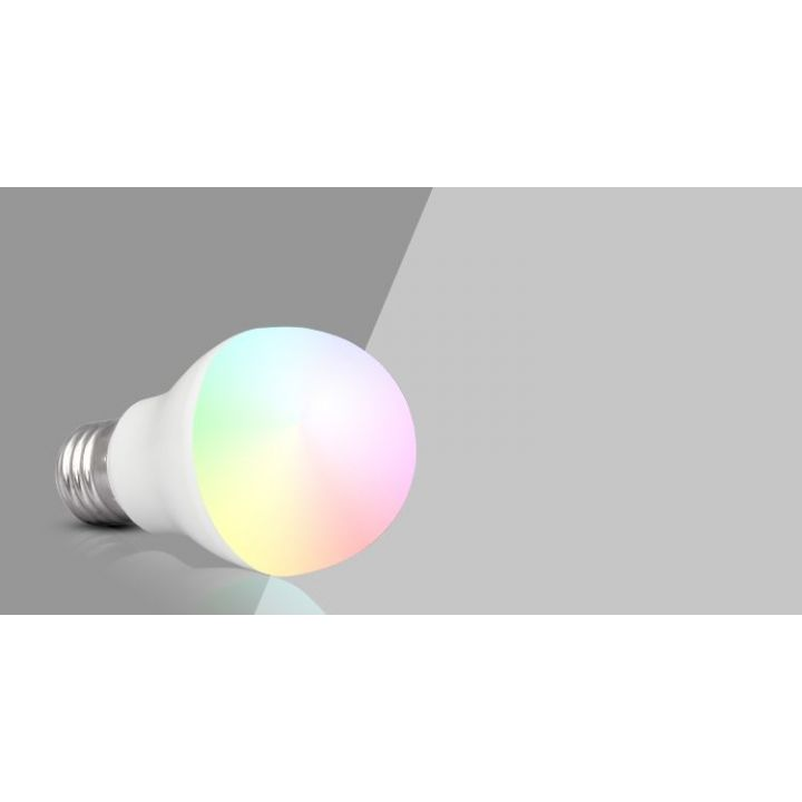 RGBW LED лампа 6Вт,Е27,2700К+RGB.RF2.4 GHz дистанционное управление