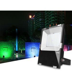 Smart LED прожектор 50W IP65 RGB+CCT Дистанционное управление 2,4 GHz