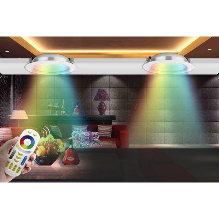 Потолочный светильник,12Вт,110-220В,RGB+2700-4200K.RF2.4 GHz