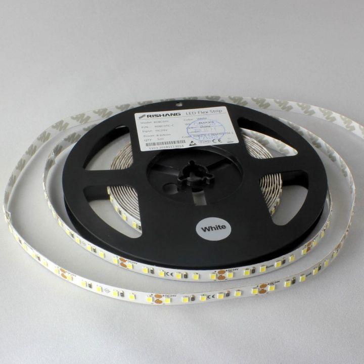 Светодиодная лента LED R08C0TC-C, 6000K, 8.6W, 120 шт., 2835, IP33, 24V, 635лм