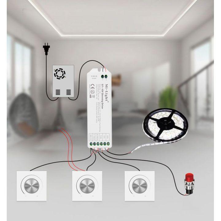 Диммер с управлением 0~10V + push control