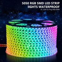 Светодиодная лента премиум, 220-240В, RGB.5050, 120 шт./м, 14.4Вт/м,IP68