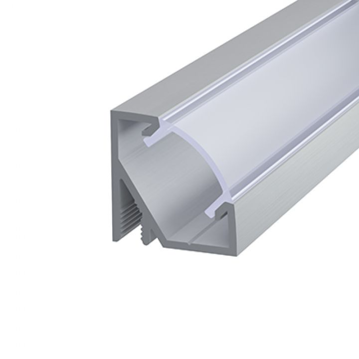 Алюминиевый профиль угловой 17*17мм, Серебро