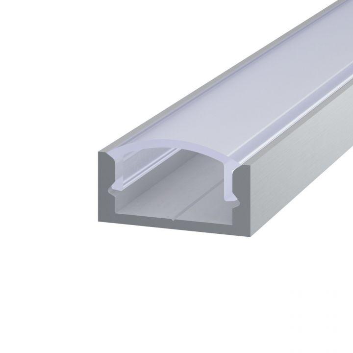 Комплект алюминиевый профиль анодированый с матовым рассеивателем, 7*16мм