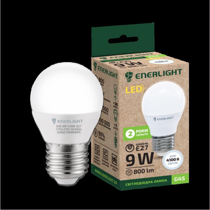Cветодиодная лампа LED ENERLIGHT G45 9Вт 4100K E27