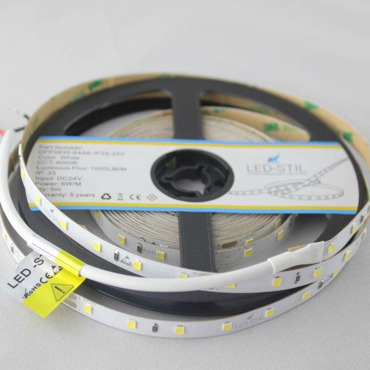 LED лента LED-STIL 6000K, 6 w,2835, 64 шт., IP33, 24V,1000lm