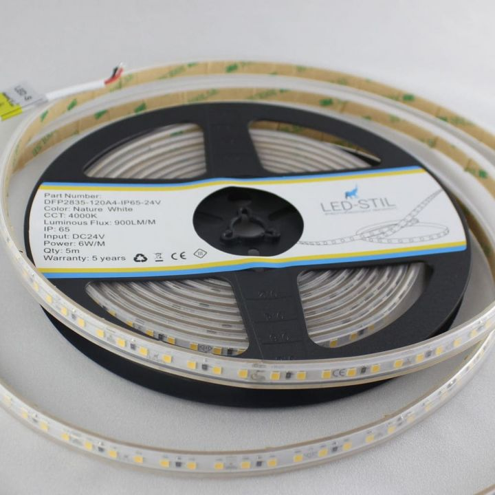 LED лента LED-STIL 4000K, 6 w, 2835, 120 шт., IP65, 24V,900lm.