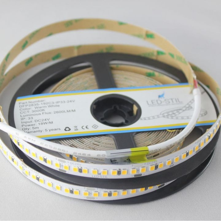 LED лента LED-STIL 3000K, 18 w,2835, 192 шт., IP33, 24V,2600lm.