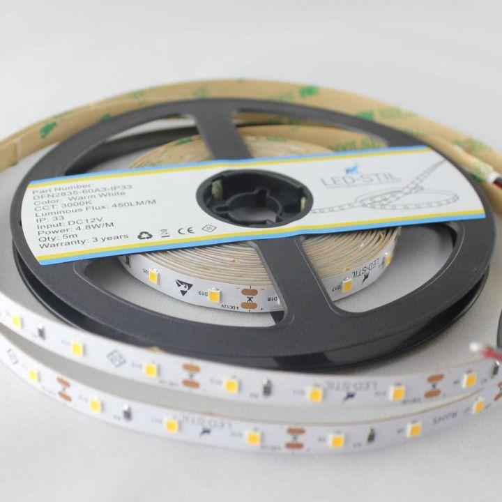 LED лента LED-STIL 3000K, 4,8 w, 2835, 60 шт., IP33, 24V
