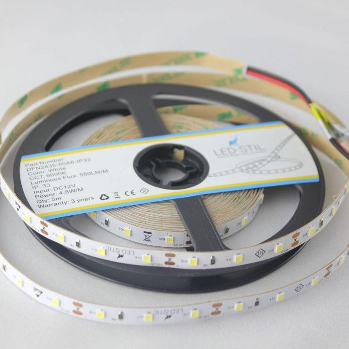 LED лента LED-STIL 6000K, 4,8 w,2835, 60 шт., IP33, 12V,550lm.