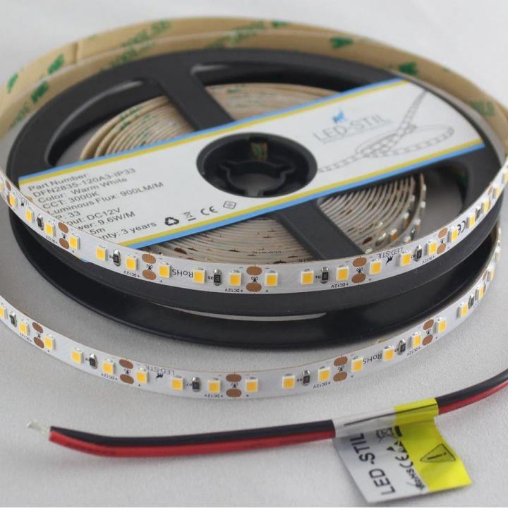 LED лента LED-STIL 3000K, 9,6 w, 2835, 120 шт., IP33, 12V,900lm.