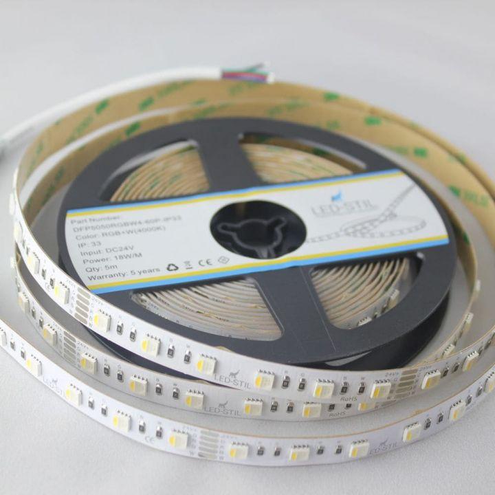 LED лента LED-STIL RGB+W 4000K, 18 w, 5050, 60 шт., IP33, 24V, 1100 лм