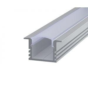 Алюминиевий профиль врезной 12*16мм, Серебро
