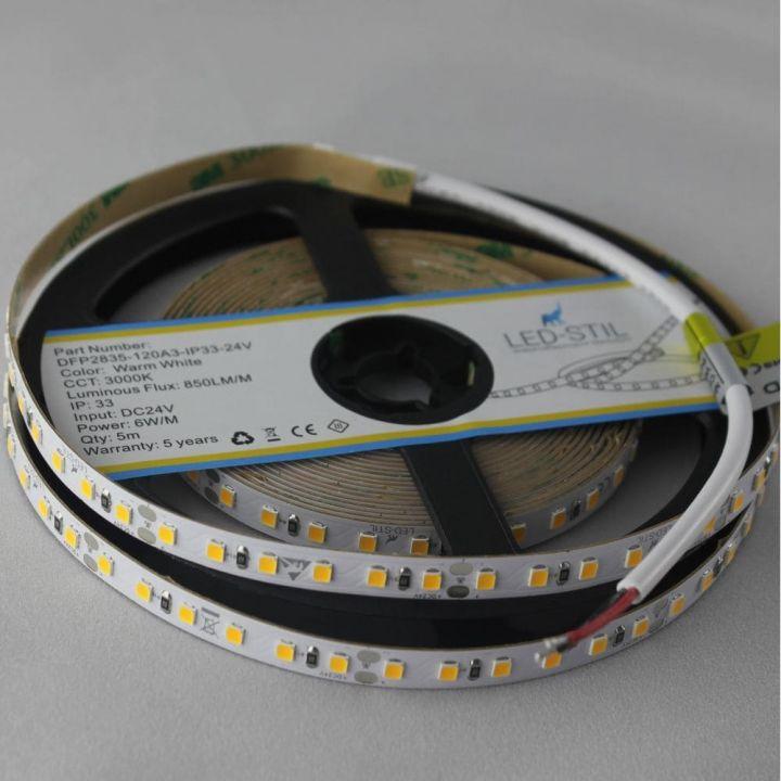 LED лента LED-STIL 3000K, 6 w,2835, 128 шт., IP33, 24V,