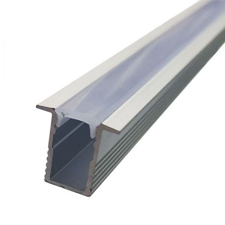 Комплект алюминиевый профиль+матовый рассеиватель 12мм*13мм