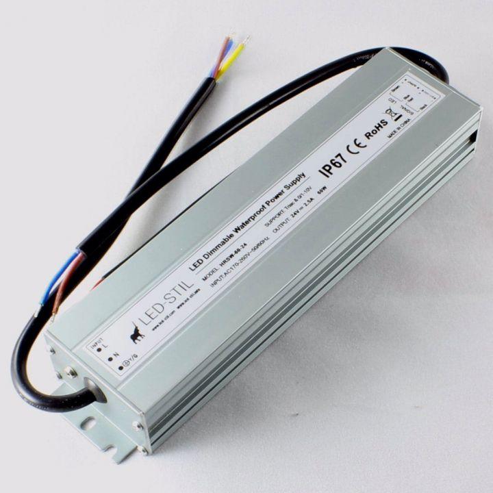 Блок питания Dim IP67, 24V, 60W, Triac+0/1-10V