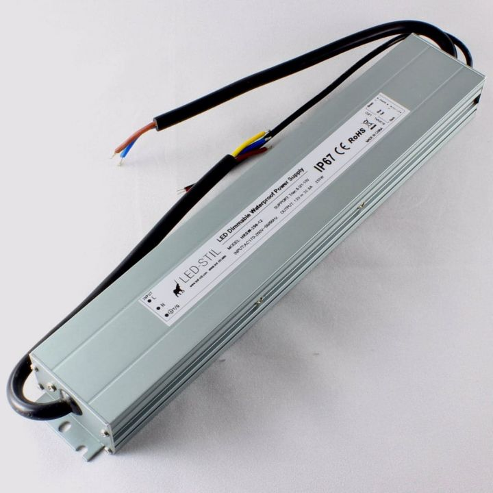 Блок питания Dim IP67, 12V, 250W, Triac+0/1-10V