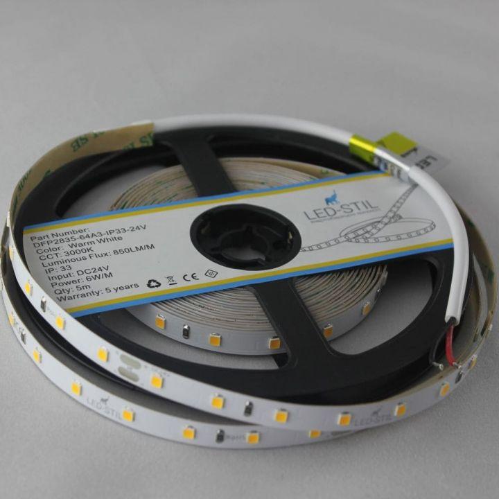 LED лента LED-STIL 2700K, 6 w,2835, 64 шт., IP33, 24V,850lm