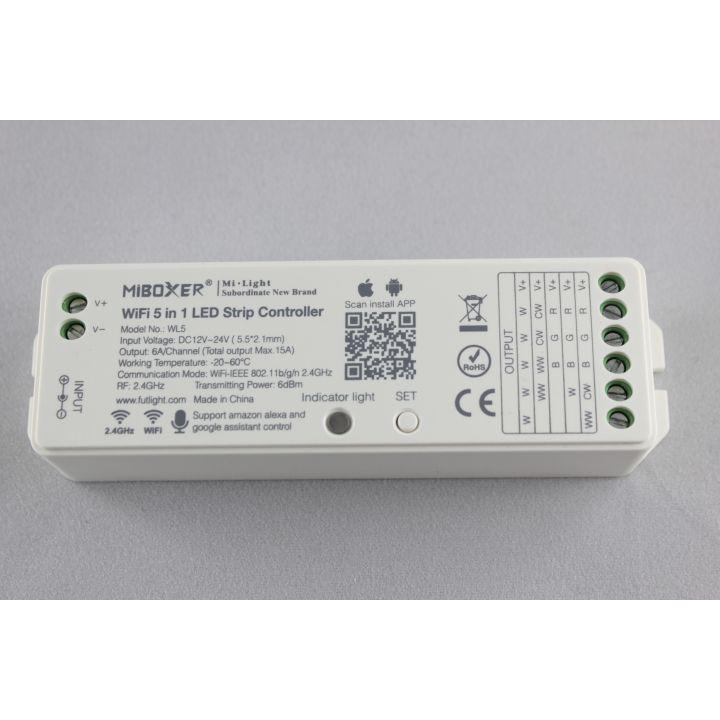 Универсальный RGB+CCT  Wi-Fi +RF2,4GHz контролер,15А