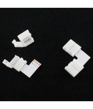 Конектор угловой двусторонний для PCB RGB 10 mm