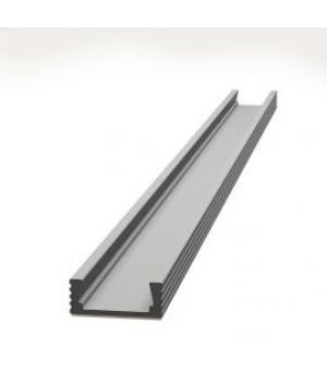 Алюминиевый профиль 6х15,5 мм анодированный, 2м