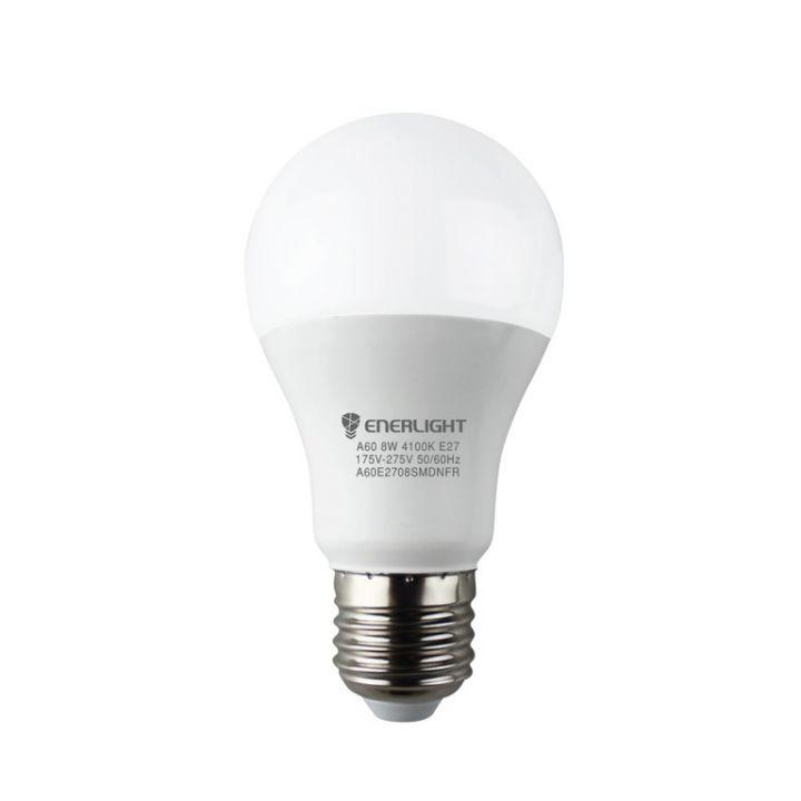 Cветодиодная лампа LED ENERLIGHT A60 8Вт 4100K E27