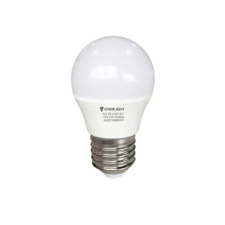 Cветодиодная лампа LED ENERLIGHT G45 6Вт 4100K E27