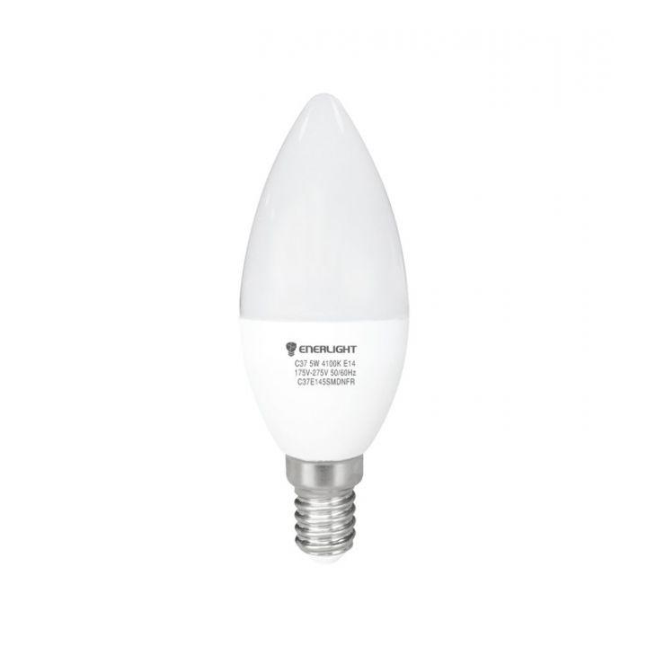 Cветодиодная лампа LED ENERLIGHT С37 5Вт 3000K E14