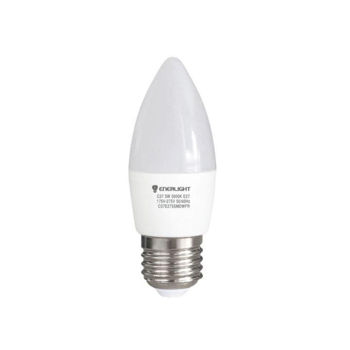 Cветодиодная лампа LED ENERLIGHT С37 5Вт 3000K E27