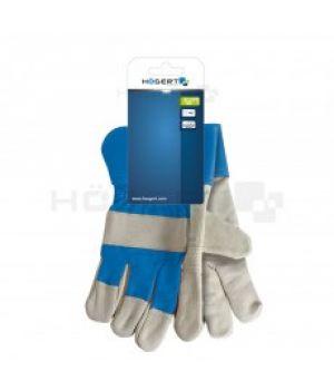 """Рабочие рукавицы 10.5"""" с вставками (коровья кожа)"""