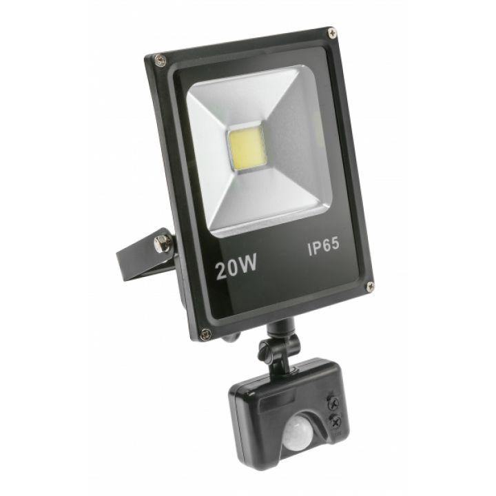 Светодиодный прожектор INNOVO с датчиком движения, 20W, AC220-240V, 50/60Hz, IP65, 1200 lm, 174 mA,