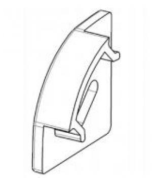 Заглушка для LED профиля 17*17 мм угловая  с отверстием